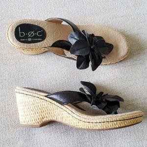 BOC born concept woven sandal black floral size